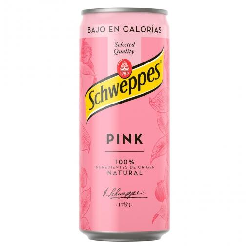 Mixers premium del supermercado como Schweppes Pink